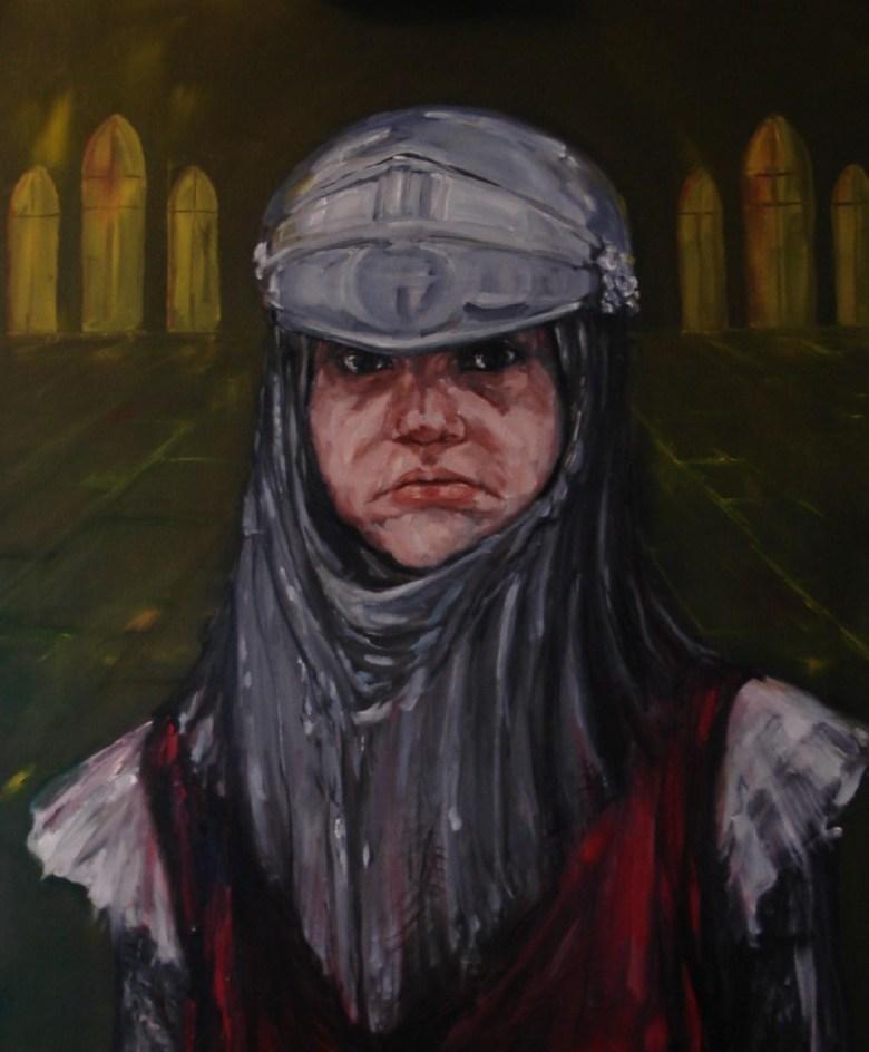 Kleine Ridder, olieverf op canvas, 60 x 50 cm, 2009