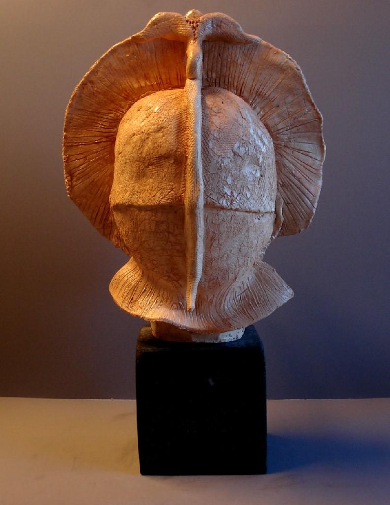 Leeuwenhart, keramiek, 50 x 30 x 25 cm, 2009