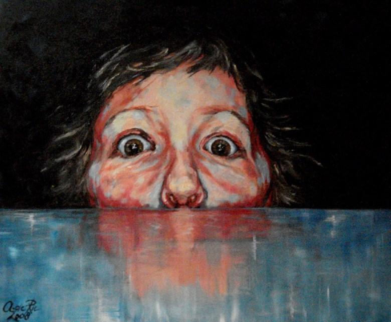 Jong III, olieverf op canvas, 40 x 50 cm, 2008
