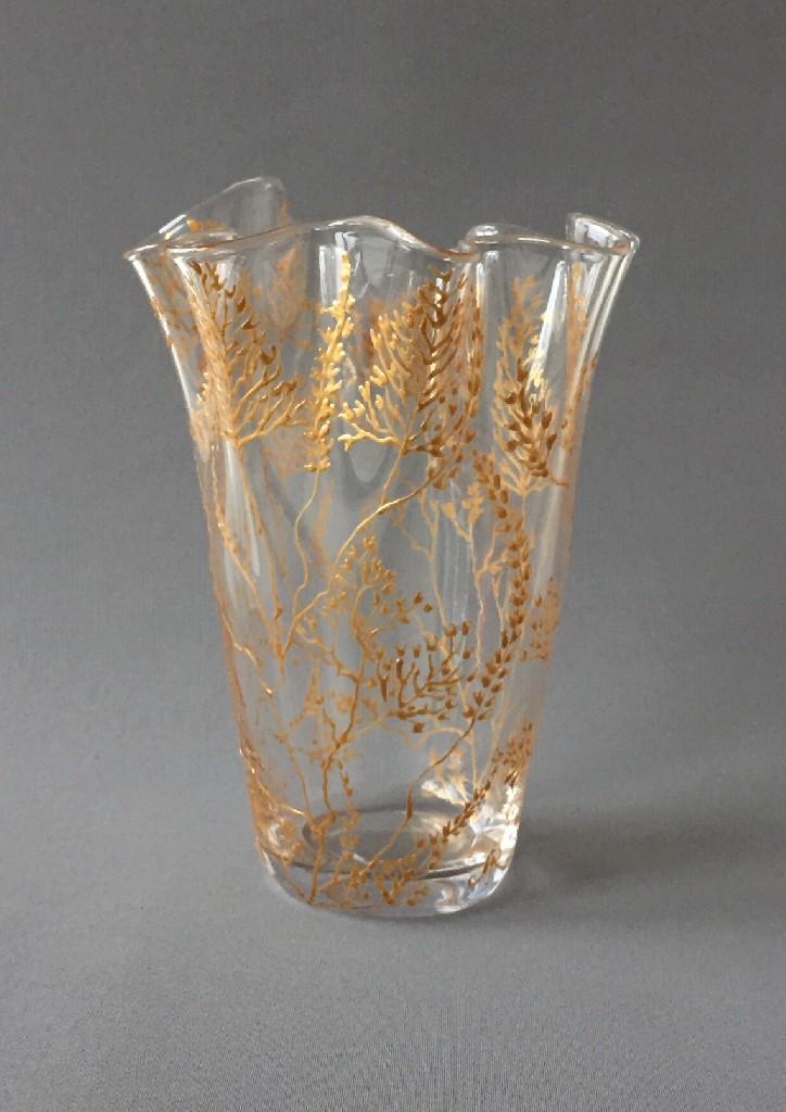 """WaaierVaas """"Belle Époque d'Or"""", gebrandschilderd glas, 25 x 18 cm, 2019"""