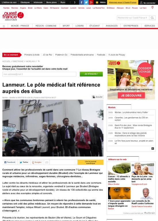 Lanmeur. Le pôle médical fait référence auprès des élus-page-001