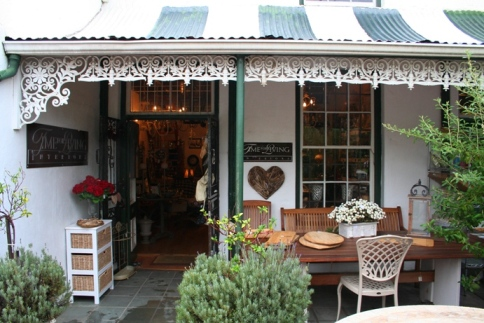 Photo 2, Franschhoek is known for its 'broekie lace' Victorian style decoration and corrugated iron roofs.  Photo: Astrid Stark