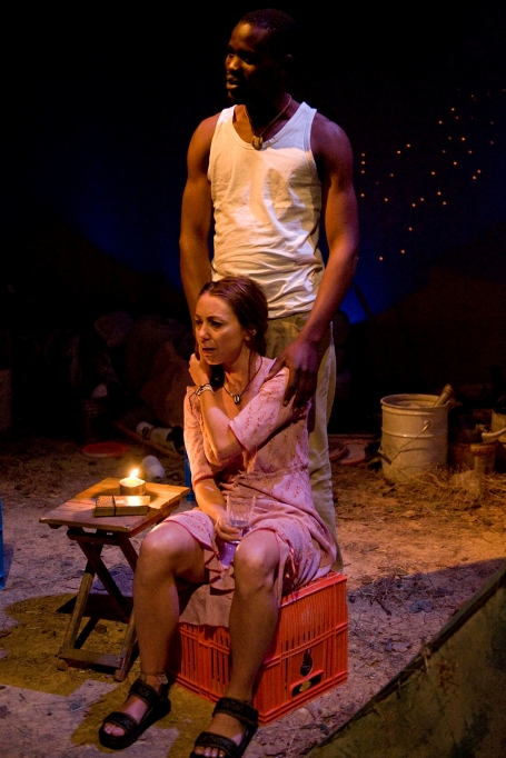 Nicola Hanekom as Ruth and Nelson Chileshe Musonda as Samson. Photo by Hannes Thiart