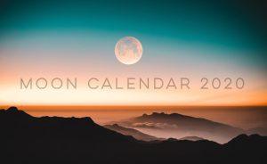 2020年の新月・満月カレンダー。日時と度数もわかります!