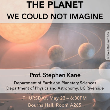 Cosmic Thursdays – Public Talk – May 23