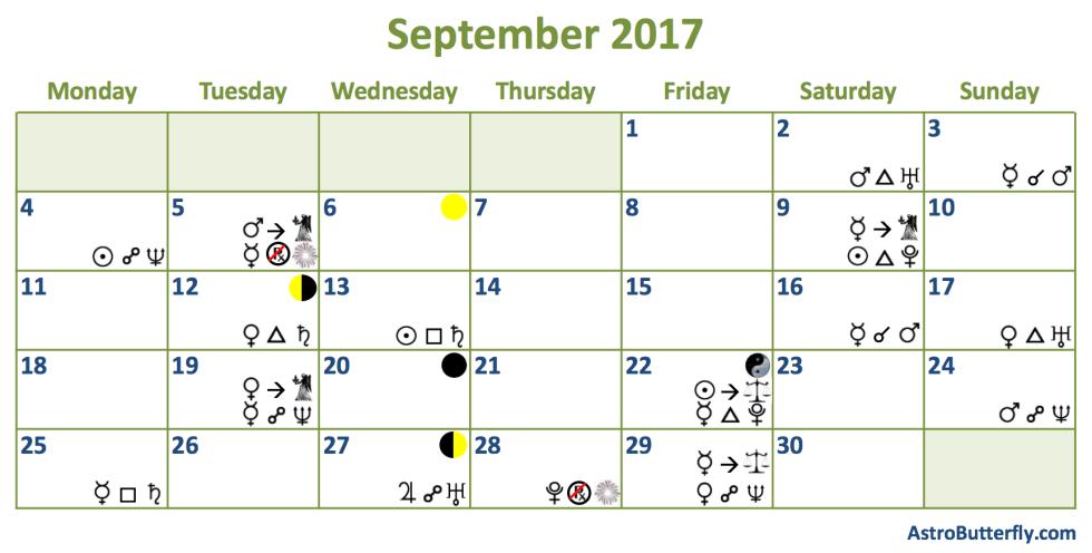 september astro butterfly