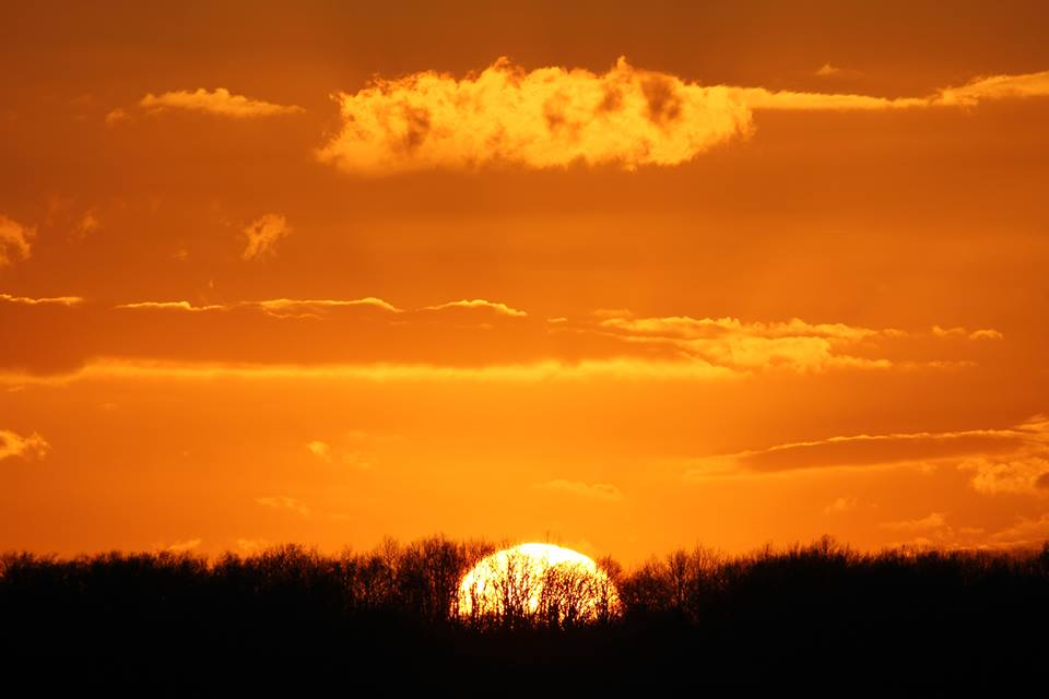 amazing sunset at Astrofarm France