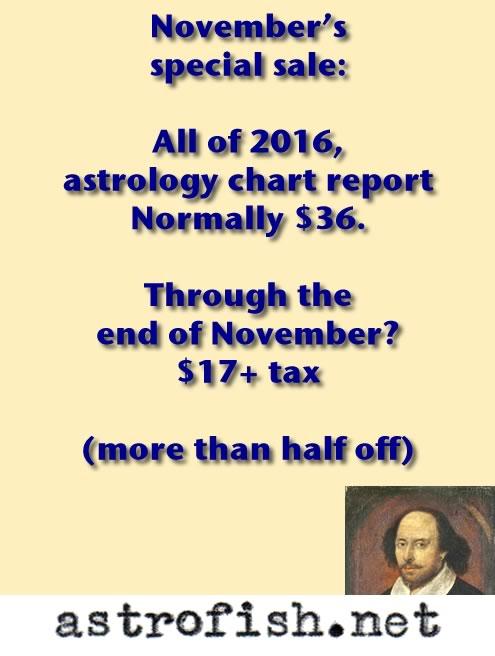 November's Special Sale