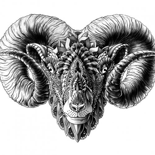 aries ram astrology zodiac psychedelic