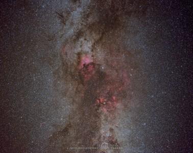 Cygnus constellation. Nikkor 50/1.8D @ f:3.5 Nikon D810A