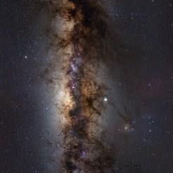 Mozaika dwa panela - najpiękniejsza Droga Mleczna z półkuli południowej - RPA. Sigma Art 14/1.8 + Nikon D7200 mod.