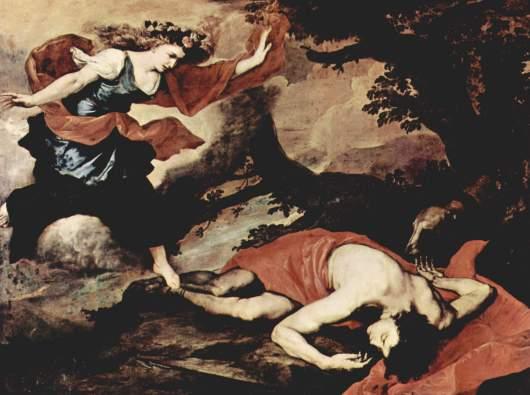 Venus y Adonis, José de Ribera, 1637, Galleria Nazionale di Palazzo Corsini, Roma-Italia