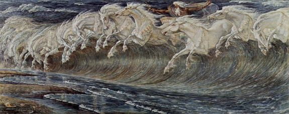 Walter Crane, 'Neptuno', 1893, Pinacoteca del Museo de Arte, Munich, Alemania. Wikimedia Commons 19 mayo 2005.