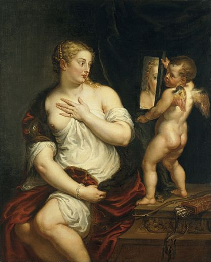 Venus y Cupido, Peter Paul Rubens, 1606-1611, Museo Thyssen-Bornemisza, Madrid -España