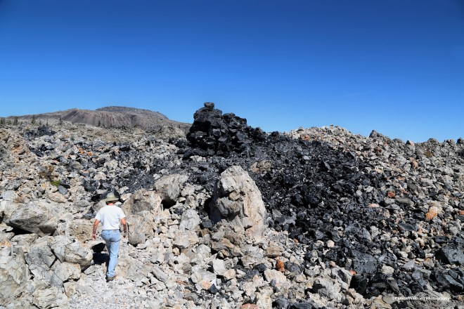 Obsidian flow at Glass Mountain