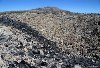 A large vein of obsidian