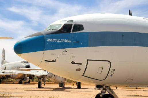Weightless wonder-astronaut training plane