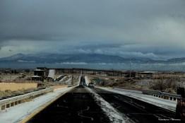 Snow North of Albuquerque