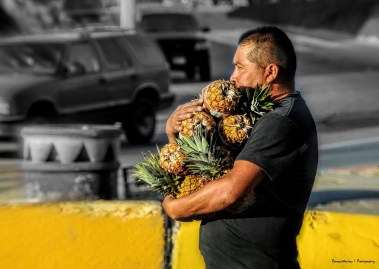 A cup of fresh fruit is always available in Tijuana...or,