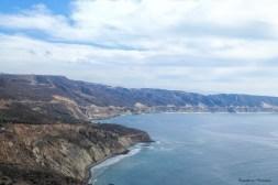 Beautiful drive along the coastal toll road
