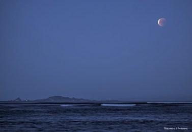 The moon over Isla Todos Santos