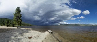 Thunderstorm rolling to the North of Monck Lake