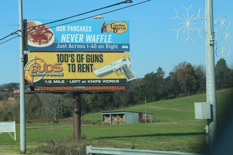Have a waffle, then go rent a gun...