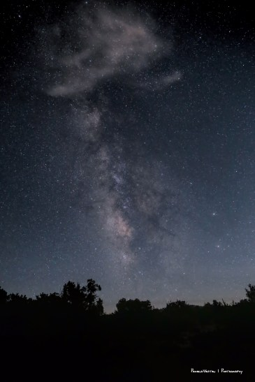 The Milky Way from the campsite
