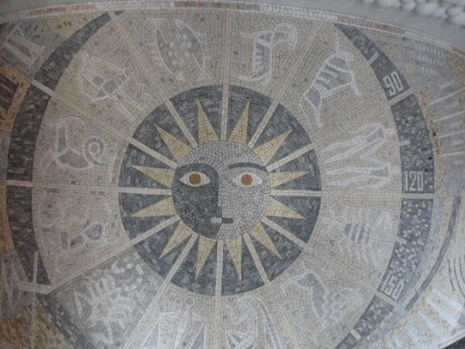 A Holistic Approach to the Astrological Archetypes: Ancient mosaic of the Sun and the Zodiac Signs