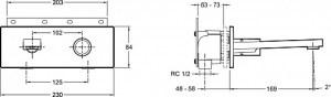 Смеситель для раковины Jacob Delafon E73061-CP COMPOSED