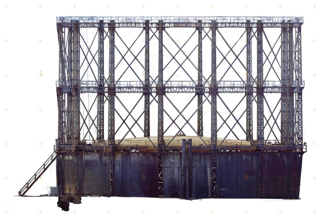 Historic Gasholder 3D Documentation elevation RGB