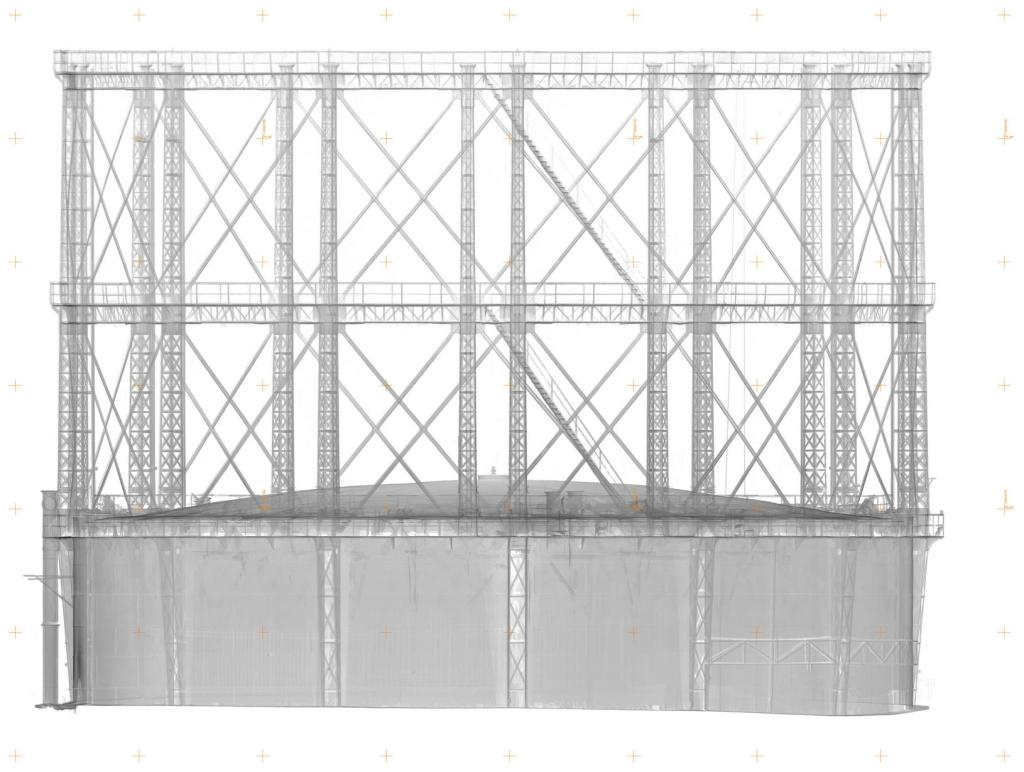 Historic Gasholder 3D Documentation elevation grey