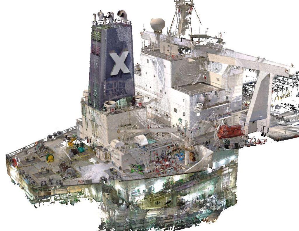 Vessel 3D scanning