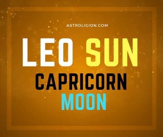 Leo Sun Capricorn Moon Personality