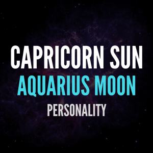 sun in capricorn moon in aquarius