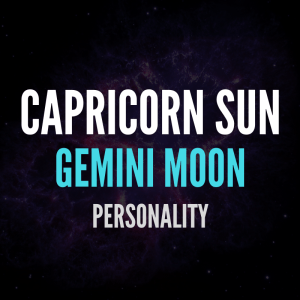 sun in capricorn moon in gemini