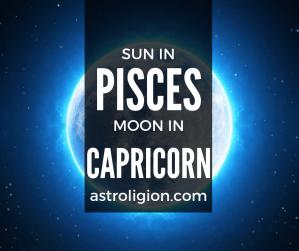 pisces sun capricorn moon personality