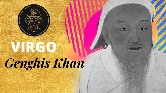 genghis khan virgo