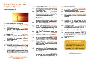 Summer Programme 2018