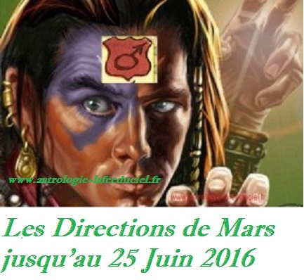 Les Directions de Mars en Juin 2016