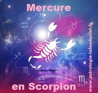 Mercure en Scorpion - en mode écriture-