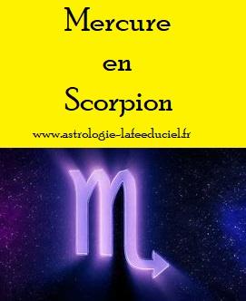 Mercure en transit en Scorpion