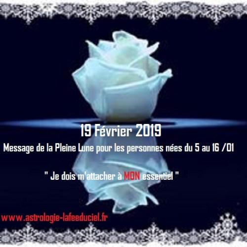 Message de la Pleine Lune du 19 Janvier 2019 pour les personnes nées Du 5 au 16 Janvier