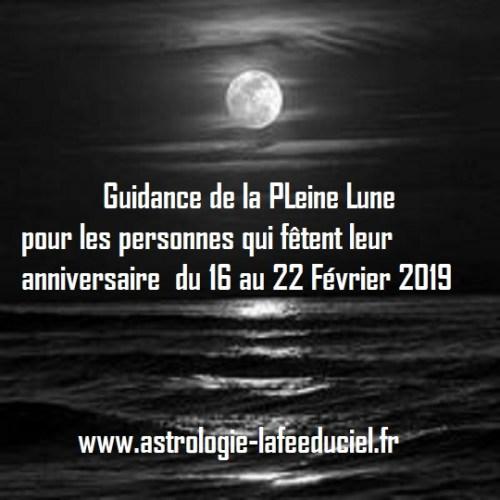 Guidance de la Pleine Lune pour les personnes qui fêtent leur anniversaire du 16 au 22 Février 2019