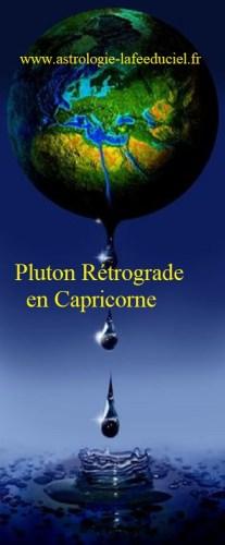 Pluton Rétrograde en Capricorne