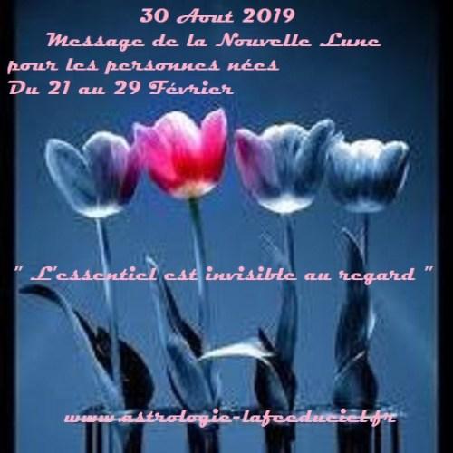 Message de la Nouvelle Lune du 30 Aout 2019 pour les personnes nées du 27 Aout au 2 Septembre