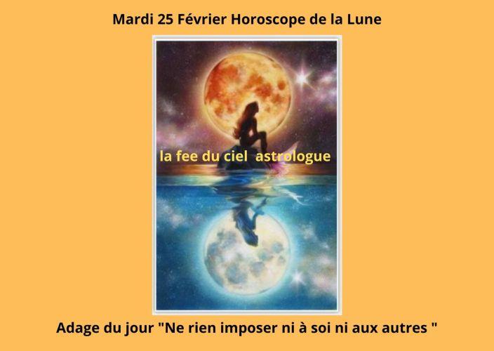 Horoscope de la Lune du 25 Février 2020