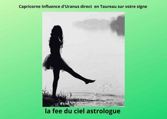 Capricorne Influence d'Uranus en phase directe en Taureau sur votre signe