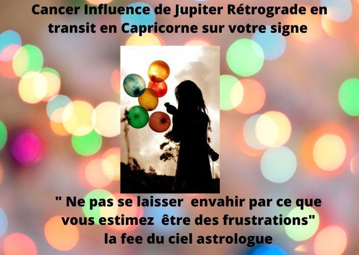 Cancer Influence de Jupiter rétrograde en transit en Capricorne sur votre signe