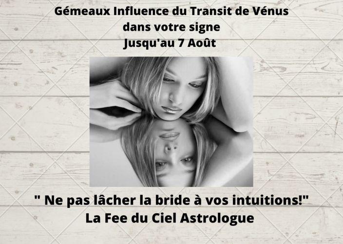 Gémeaux Influence de Vénus en Transit dans votre signe